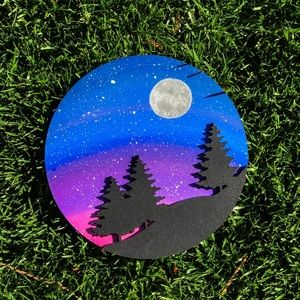 Lasercut Forest Galaxy Art, Space and Stars